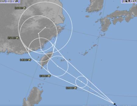 台風18号2017年09月12日の予報