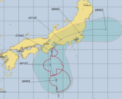 台風6号進路予報USNAVY