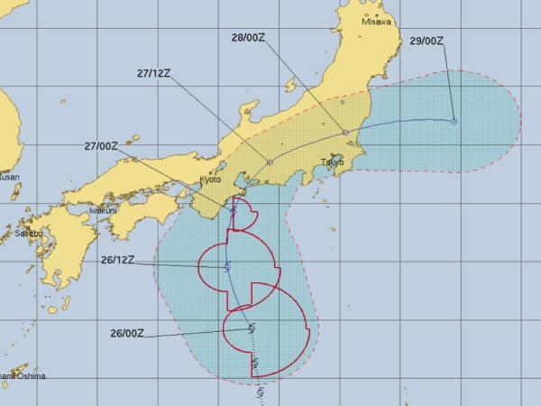 台風6号進路予報 USNAVY