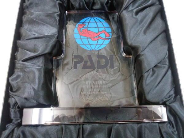 PADI 15周年 表彰盾