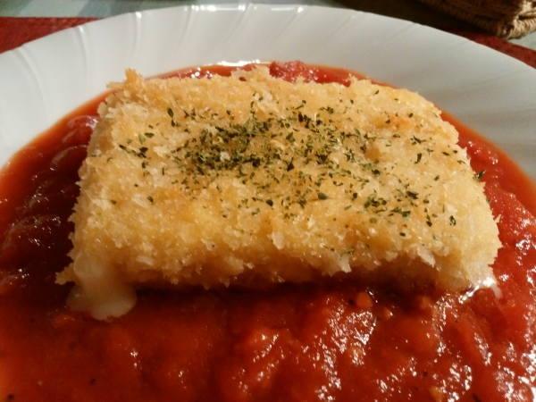 13日 八丈島 夕食の料理 チーズフライ