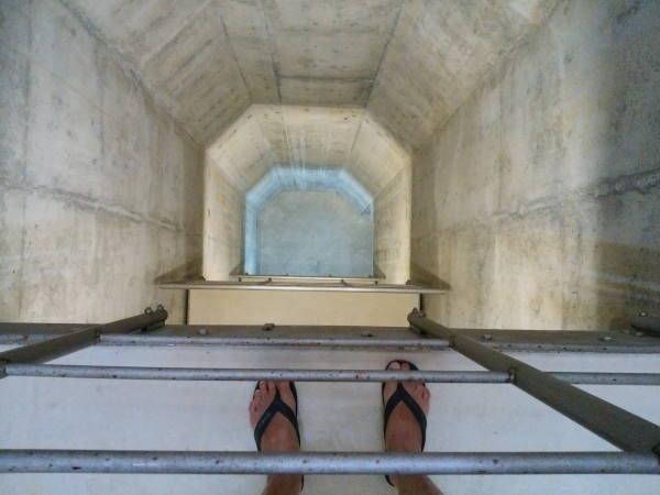喜界島の地下ダム 地下16m