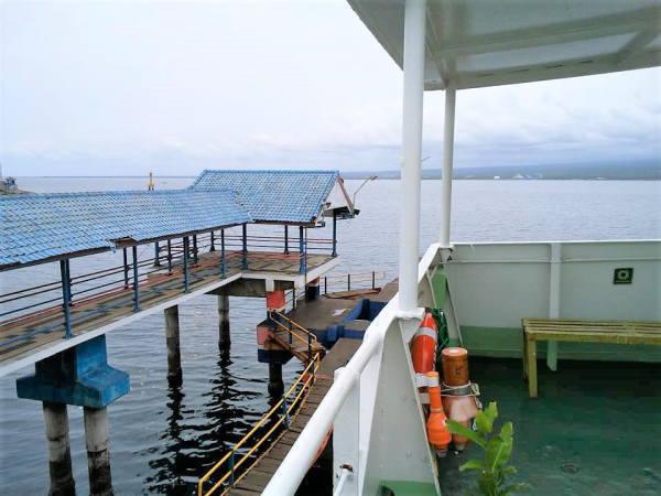 1130ギリマヌクの港 カーフェリー