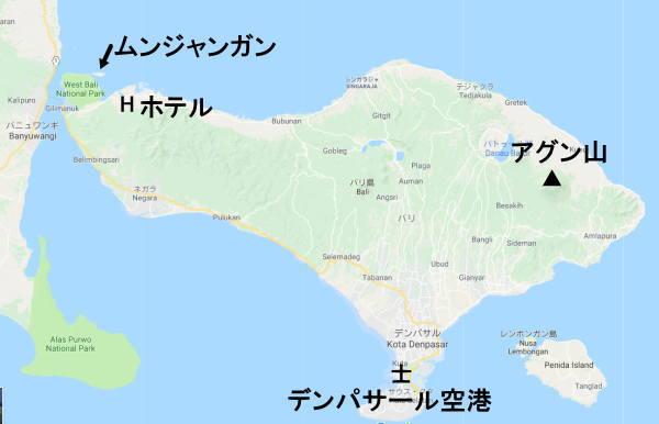 バリ島の地図